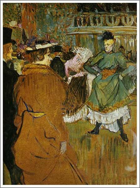 絵画(油絵複製画)制作 ロートレック「ムーラン・ルージュにて、カドリール踊り」