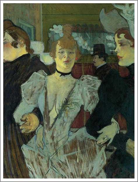 絵画(油絵複製画)制作 ロートレック「ムーラン・ルージュ、ラ・グーリュ」