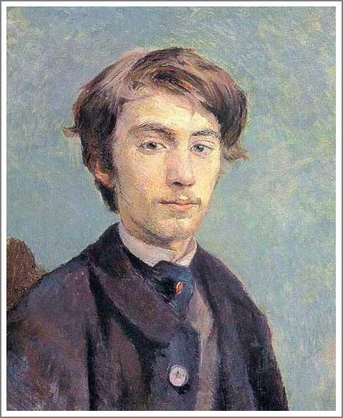 絵画(油絵複製画)制作 ロートレック「エミール・ベルナールの肖像」