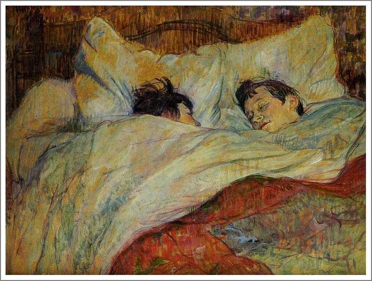 絵画(油絵複製画)制作 ロートレック「ベッド」
