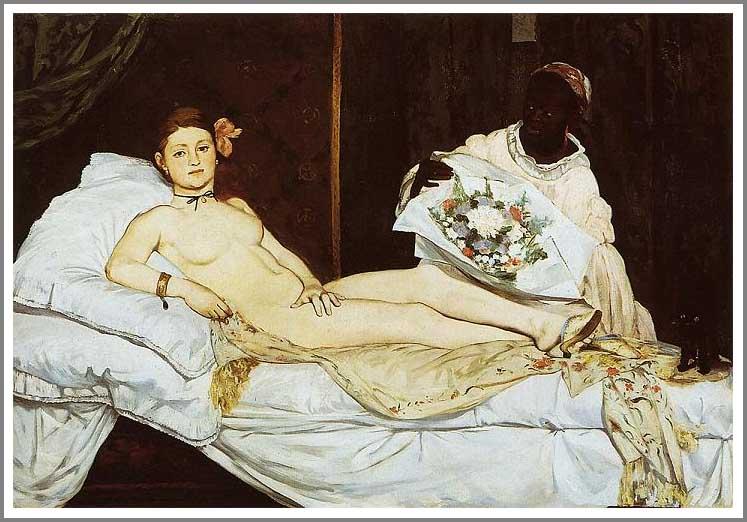 絵画(油絵複製画)制作 エドゥアール・マネ「オランピア」