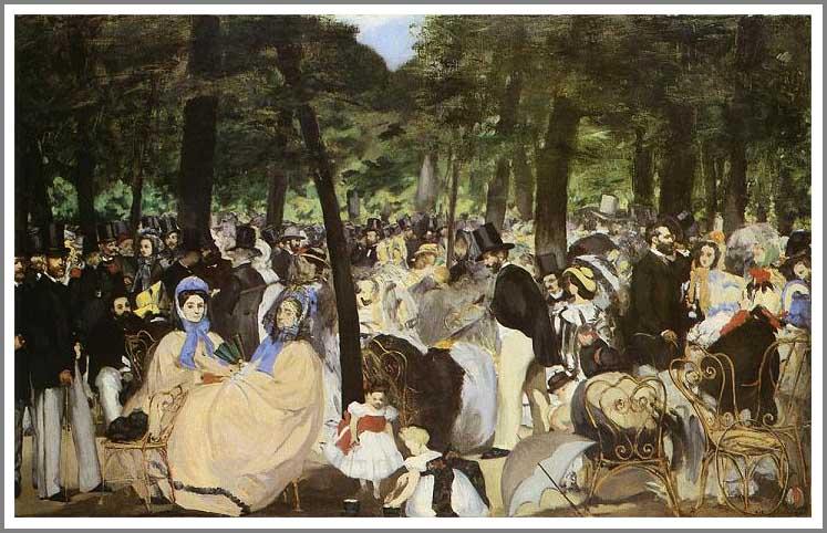 絵画(油絵複製画)制作 エドゥアール・マネ「テュイルリー公園の音楽祭」