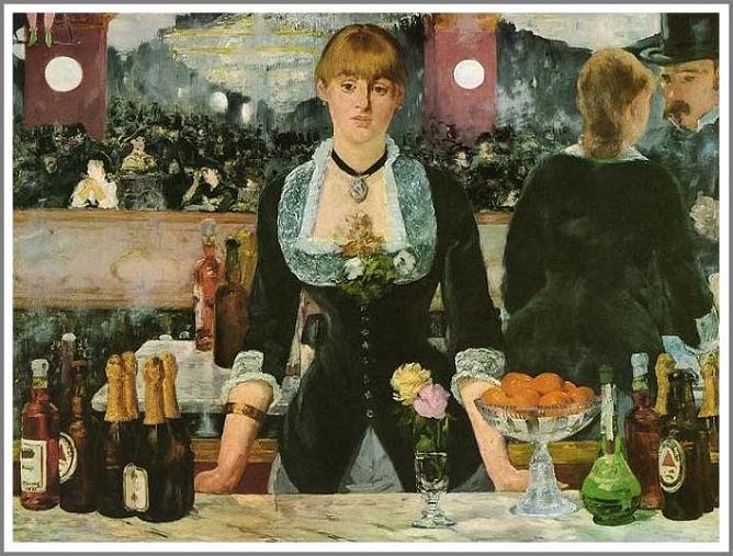 絵画(油絵複製画)制作 エドゥアール・マネ「フォリー=ベルジェール劇場のバー」