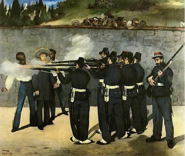 絵画(油絵複製画)制作 エドゥアール・マネ「皇帝マクシミリアンの処刑」