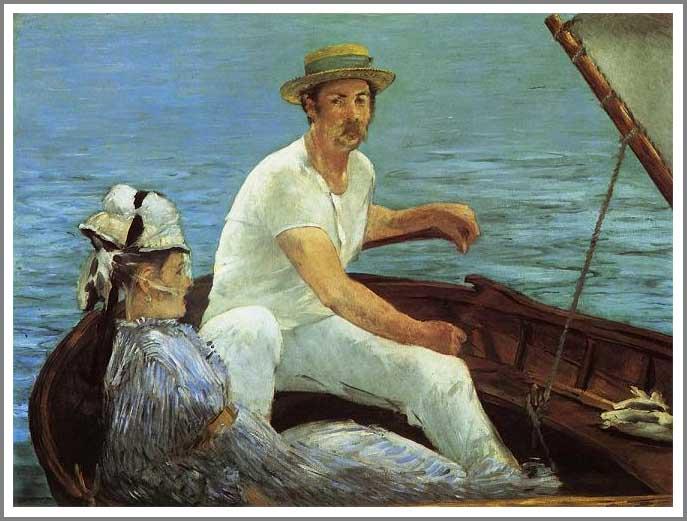 絵画(油絵複製画)制作 エドゥアール・マネ「舟遊び」