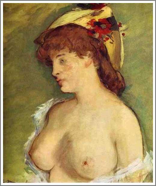 絵画(油絵複製画)制作 エドゥアール・マネ「ブロンド髪の女性」