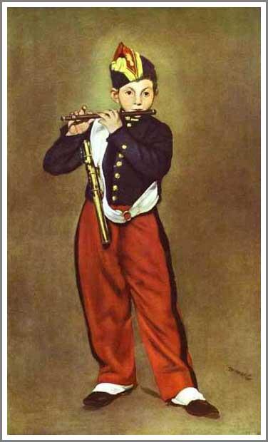絵画(油絵複製画)制作 エドゥアール・マネ「笛吹き少年」