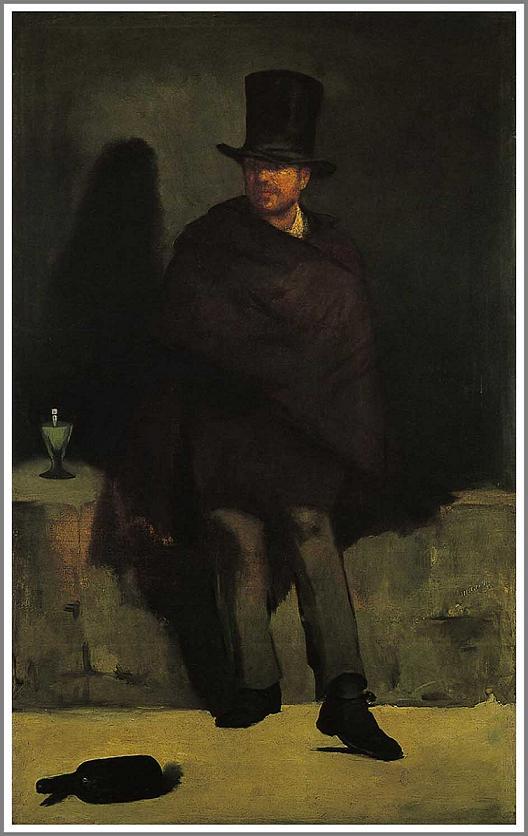 絵画(油絵複製画)制作 エドゥアール・マネ「アプサントを飲む男」