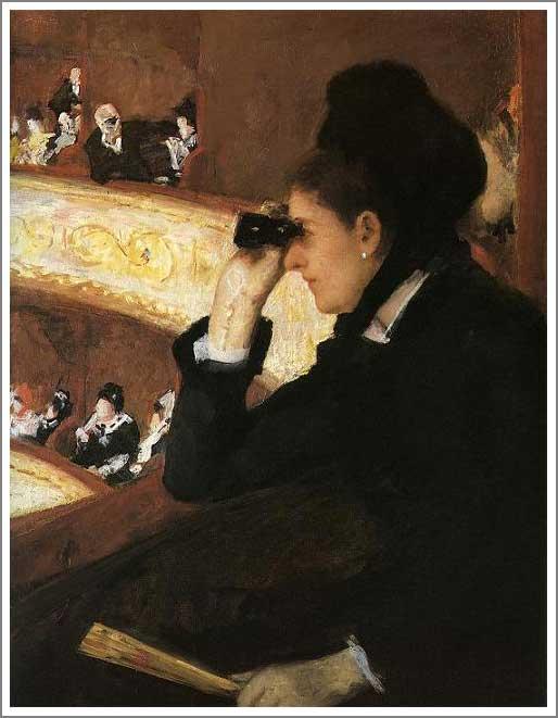 絵画(油絵複製画)制作 メアリー・カサット「オペラ座にて」