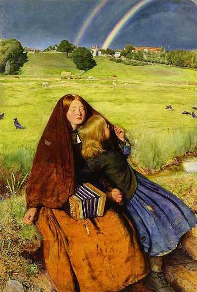 絵画(油絵複製画)制作 エヴァレット・ミレイ「盲目の少女」