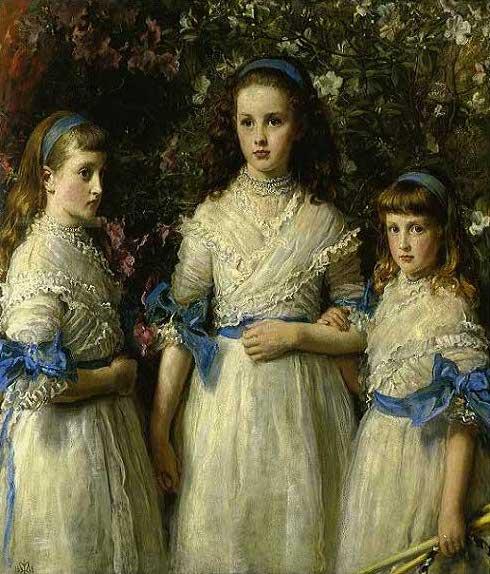 絵画(油絵複製画)制作 エヴァレット・ミレイ「姉妹たち」