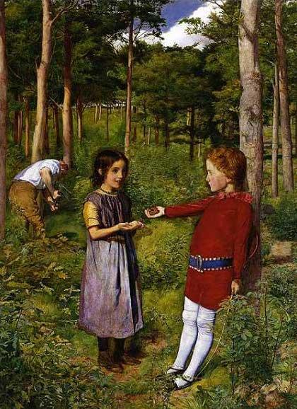 絵画(油絵複製画)制作 エヴァレット・ミレイ「樵の娘」