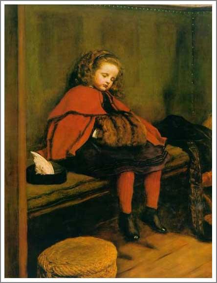 絵画(油絵複製画)制作 エヴァレット・ミレイ「二度目のお説教」
