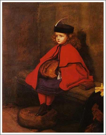 絵画(油絵複製画)制作 エヴァレット・ミレイ「最初のお説教」