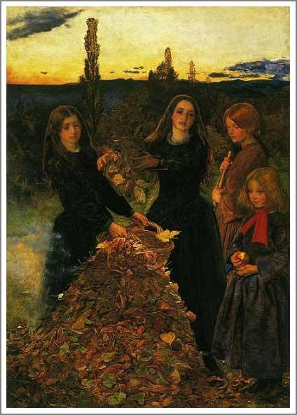 絵画(油絵複製画)制作 エヴァレット・ミレイ「枯れ葉」