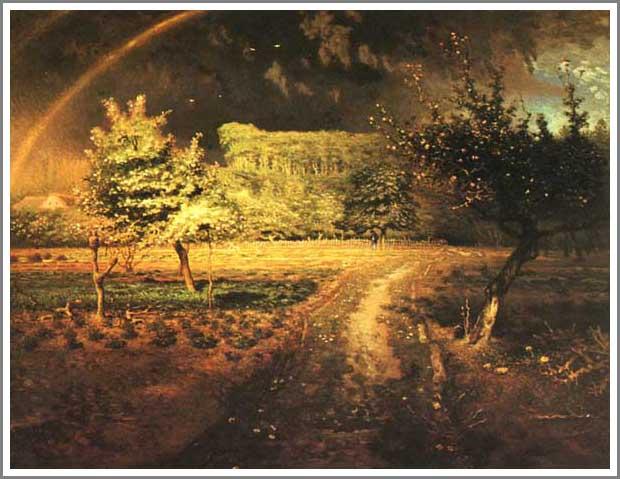 絵画(油絵複製画)制作 フランソワ・ミレー「春~Spring~」