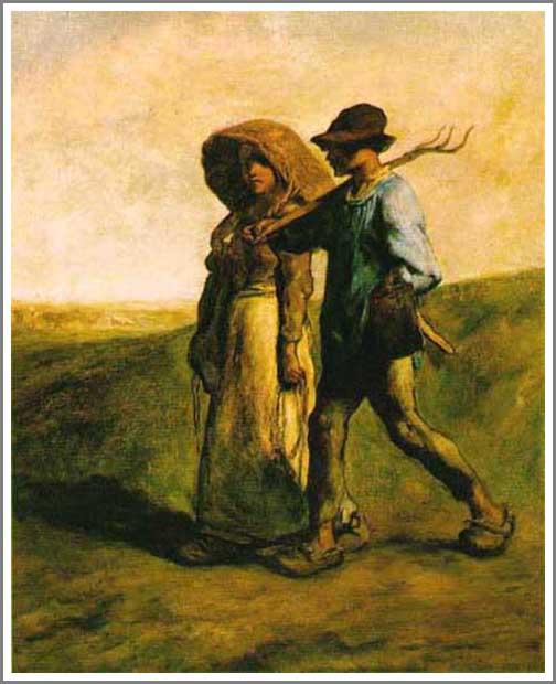 絵画(油絵複製画)制作 フランソワ・ミレー「仕事に出かける人」