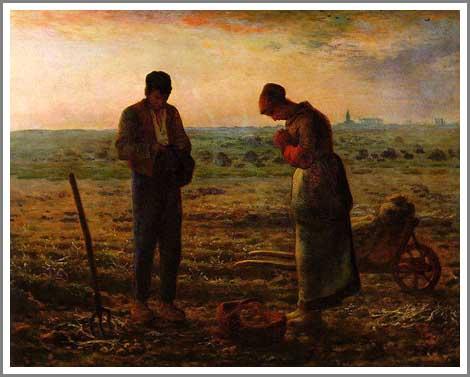 絵画(油絵複製画)制作 フランソワ・ミレー「晩鐘」