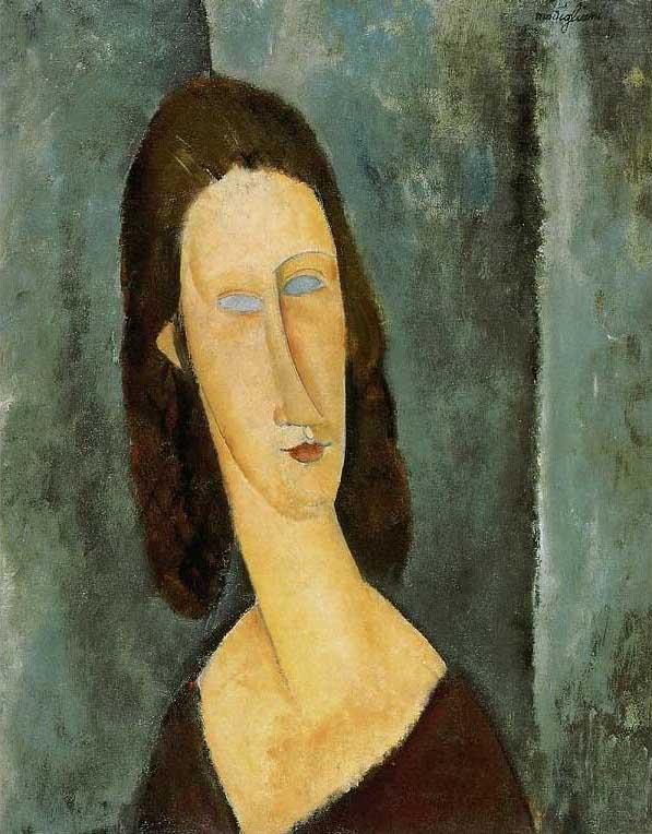 絵画(油絵複製画)制作 アメデオ・モディリアーニ「青い眼の肖像(ジャンヌ・エビュテルヌ)」