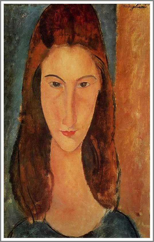 絵画(油絵複製画)制作 アメデオ・モディリアーニ「ジャンヌ・エビュテルヌの肖像」