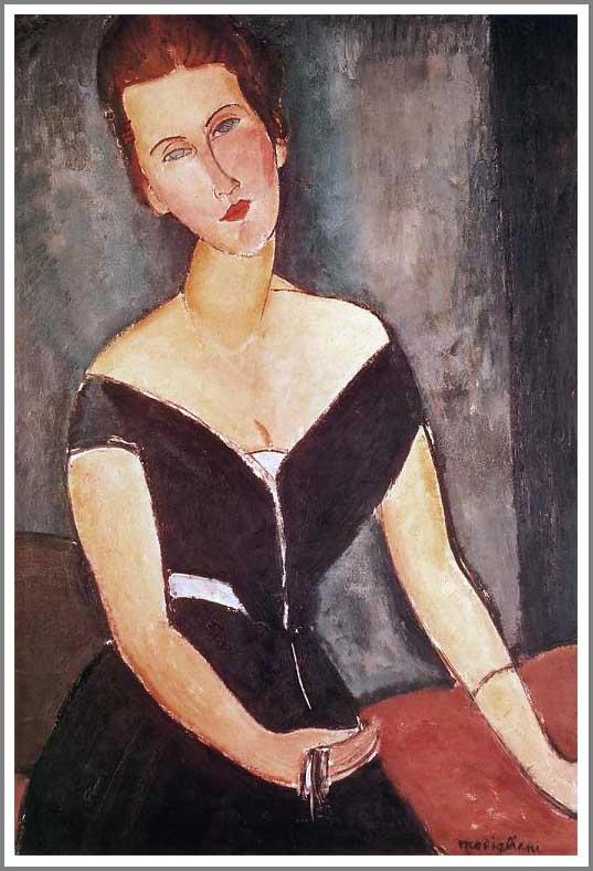 絵画(油絵複製画)制作 アメデオ・モディリアーニ「ヴァン・ムイデン夫人の肖像」