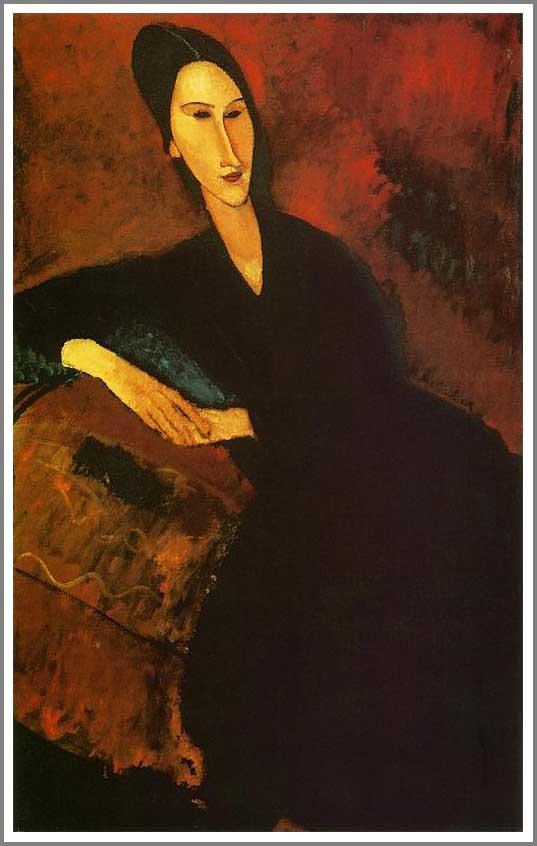 絵画(油絵複製画)制作 アメデオ・モディリアーニ「座るズボロウスカ夫人」