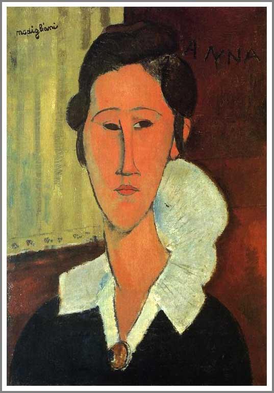 絵画(油絵複製画)制作 アメデオ・モディリアーニ「ハンカ・ズボロウスカ夫人の肖像」