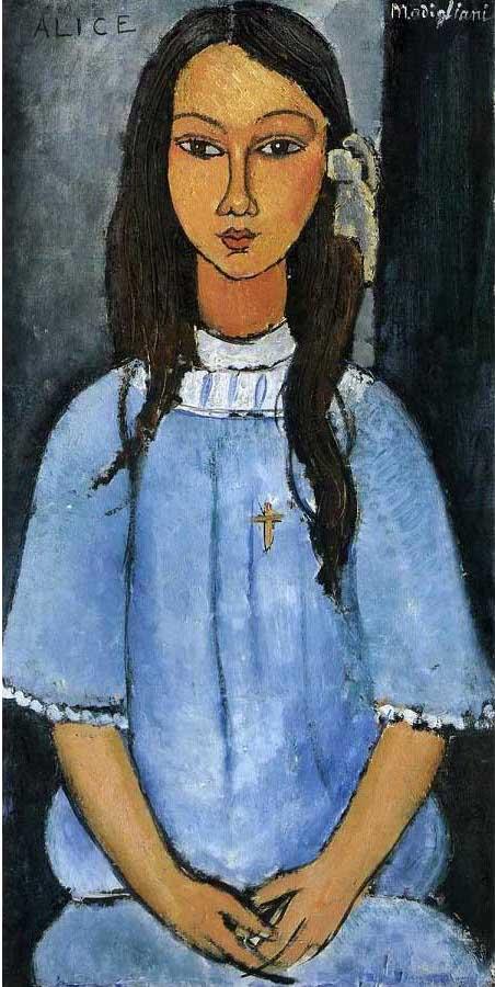 絵画(油絵複製画)制作 アメデオ・モディリアーニ「アリスの肖像」