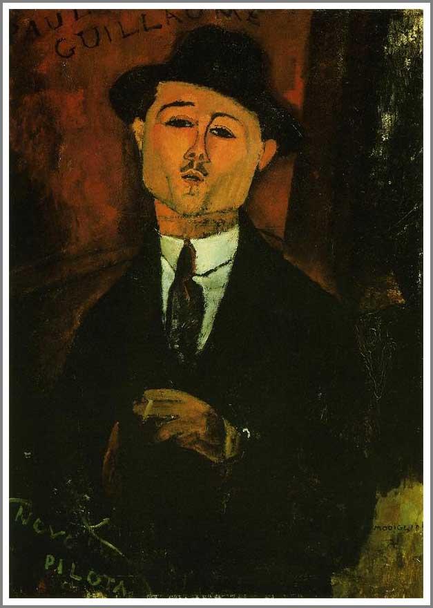絵画(油絵複製画)制作 アメデオ・モディリアーニ「ポール・ギヨームの肖像2」