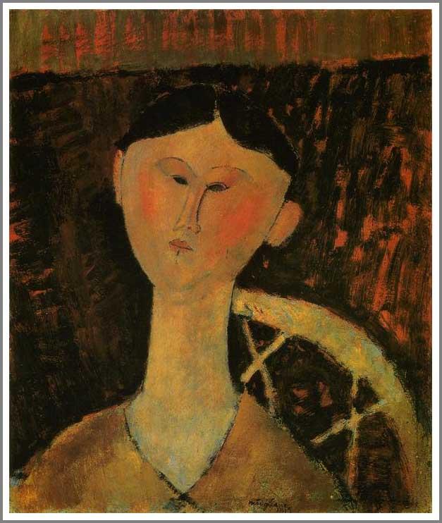 絵画(油絵複製画)制作 アメデオ・モディリアーニ「ベアトリス・ヘイスティングの肖像」