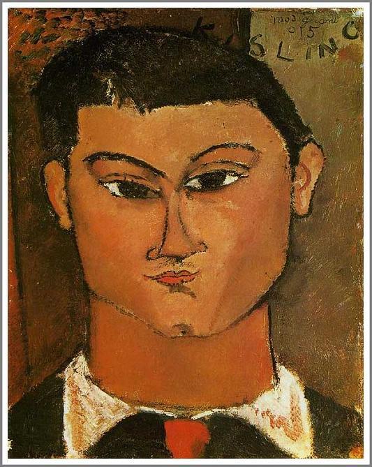 絵画(油絵複製画)制作 アメデオ・モディリアーニ「モイズ・キスリングの肖像」
