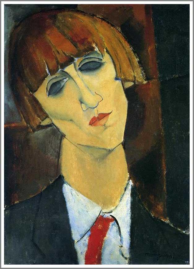 絵画(油絵複製画)制作 アメデオ・モディリアーニ「ルネ・キスリングの肖像」