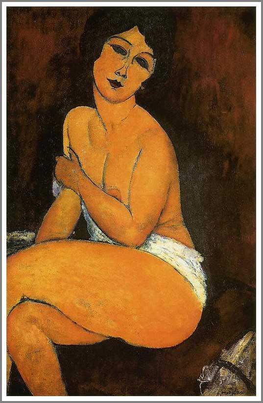 絵画(油絵複製画)制作 アメデオ・モディリアーニ「椅子の上にいる裸婦」