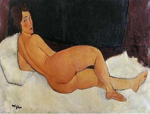 絵画(油絵複製画)制作 アメデオ・モディリアーニ「肩越しに見る裸婦」
