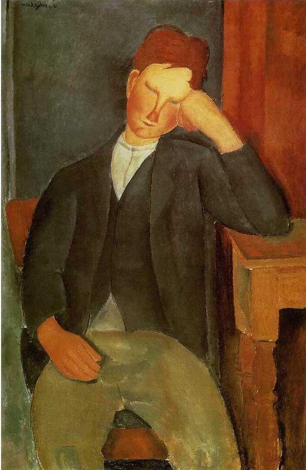 絵画(油絵複製画)制作 アメデオ・モディリアーニ「若い奉公人」