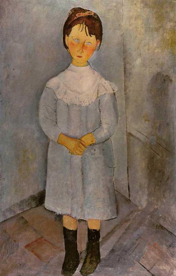 絵画(油絵複製画)制作 アメデオ・モディリアーニ「青い服の少女」
