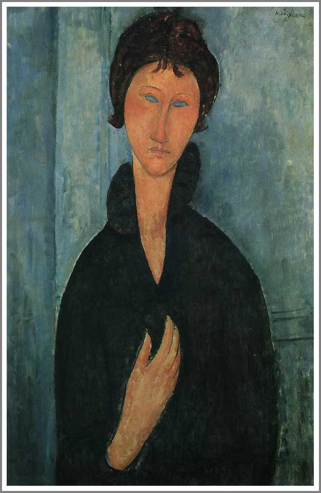 絵画(油絵複製画)制作 アメデオ・モディリアーニ「青い目の女」