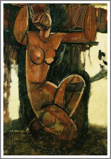 絵画(油絵複製画)制作 アメデオ・モディリアーニ「裸のカリアティード」