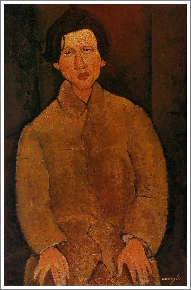 絵画(油絵複製画)制作 アメデオ・モディリアーニ「シャイム・スーティンの肖像」