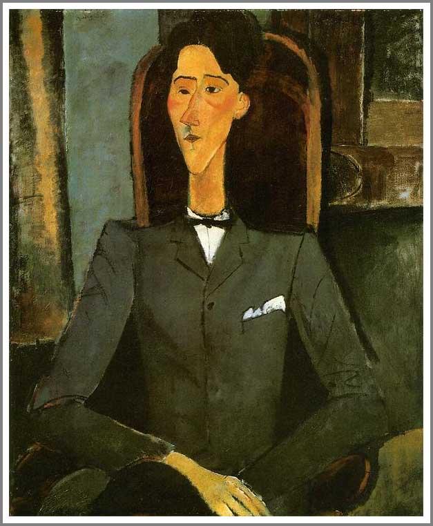 絵画(油絵複製画)制作 アメデオ・モディリアーニ「ジャン・コクトーの肖像」