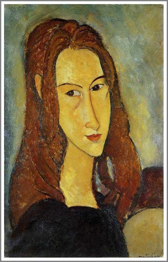 絵画(油絵複製画)制作 アメデオ・モディリアーニ「若い女の肖像(ジャンヌ・エビュテルヌ)」