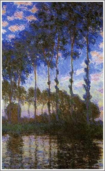 絵画(油絵複製画)制作 クロード・モネ「ポプラ並木~夕日~」