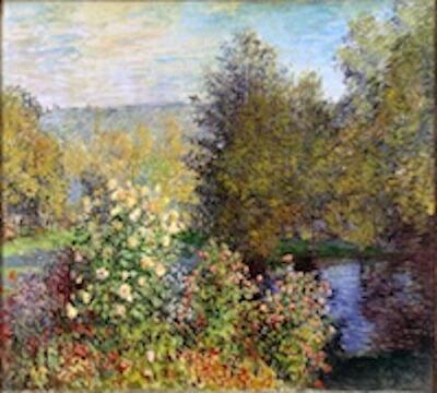 絵画(油絵複製画)制作 クロード・モネ「モンジュロンの庭」