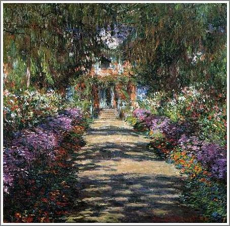 絵画(油絵複製画)制作 クロード・モネ「ジヴェルニーのモネの庭の小道」