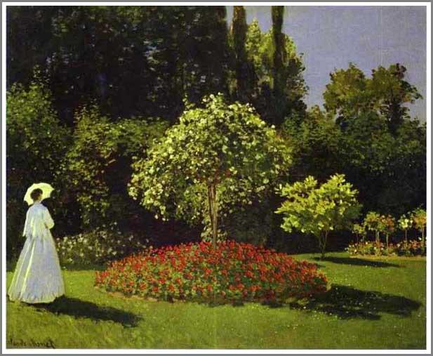 絵画(油絵複製画)制作 クロード・モネ「サンタドレスの庭」