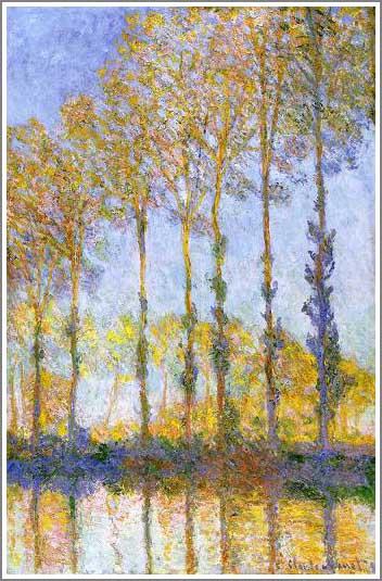 絵画(油絵複製画)制作 クロード・モネ「エプト川のポプラ並木」