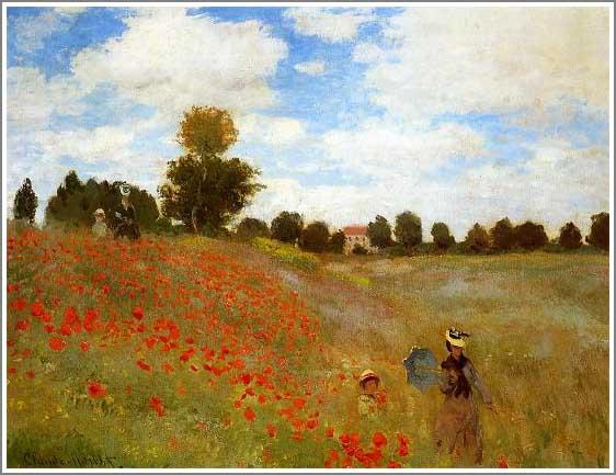 絵画(油絵複製画)制作 クロード・モネ「アルジャントゥイユのひなげし」