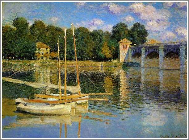 絵画(油絵複製画)制作 クロード・モネ「アルジャントゥイユの橋」