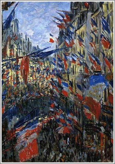 絵画(油絵複製画)制作 クロード・モネ「サン・ドニ街、1878年6月30日の祝日」
