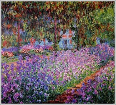 絵画(油絵複製画)制作 クロード・モネ「ジヴェルニーのモネの庭」